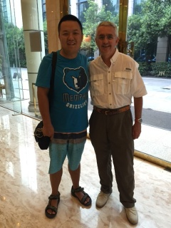 Bill With Grizz Fan In China