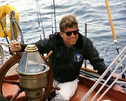President Kennedy On Sailboat